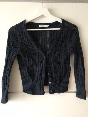 Only Szydełkowany sweter ciemnoniebieski