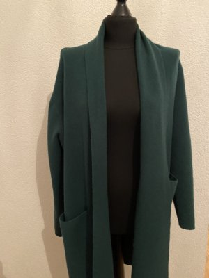 Long Knitted Vest forest green