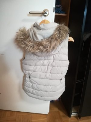 H&M Quilted Gilet natural white