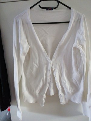 Pimkie Smanicato lavorato a maglia bianco