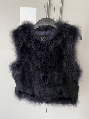 Kopenhagen by Andersen Fur vest dark violet-grey violet pelt