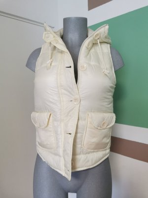 Hooded Vest oatmeal polyamide
