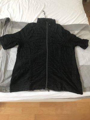 Monari Lang gebreid vest zwart