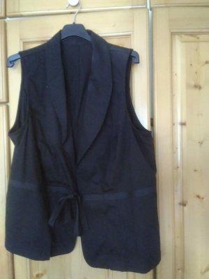 Gilet en jean noir coton