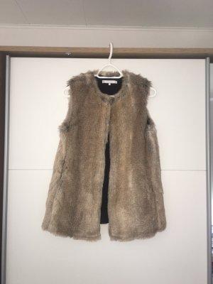 Zara Fur vest multicolored