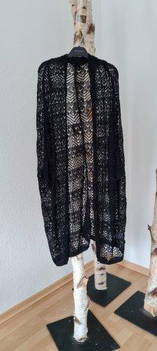 Ohne Gilet long tricoté noir