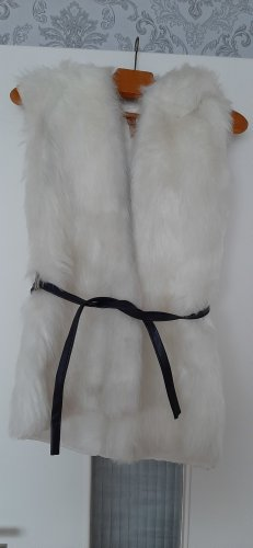 Chaleco con capucha blanco