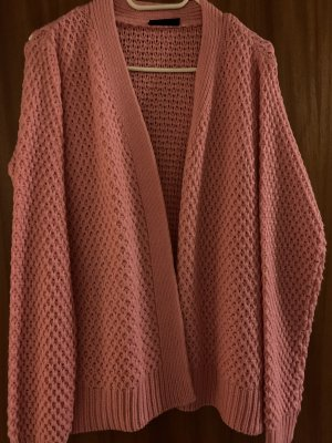 Coarse Knitted Jacket neon pink wool