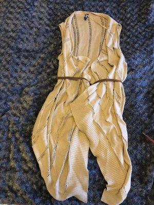 1982 Gilet tricoté beige coton