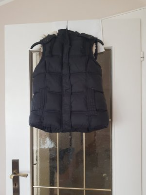 Quilted Gilet black-natural white