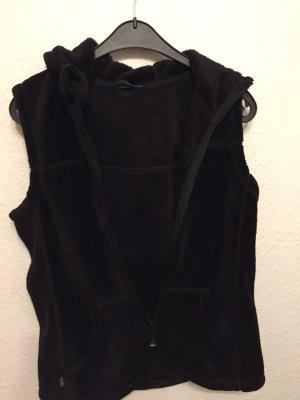 meru Fleece vest zwart