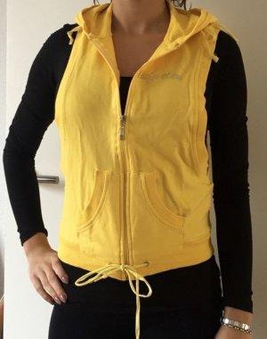 Chaleco con capucha amarillo-amarillo pálido