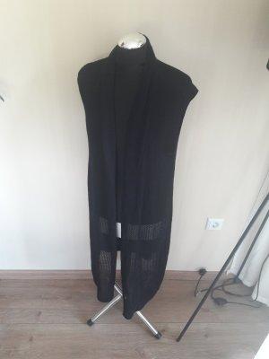Freequent Lang gebreid vest zwart