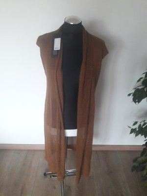 Freequent Lang gebreid vest bruin