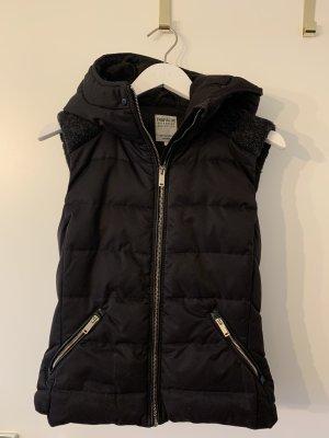 Zara Chaleco de plumón negro