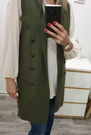 Primark Long Knitted Vest dark green