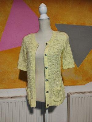 Bonita Crochet Sweater pale yellow