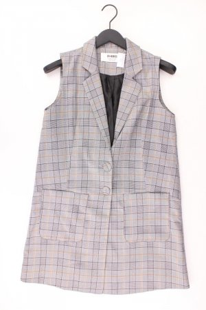 Weste Größe 40 kariert neuwertig grau aus Polyester
