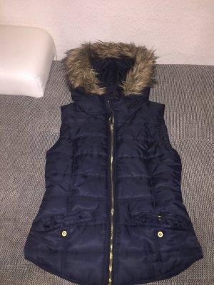 H&M Chaleco con capucha azul oscuro