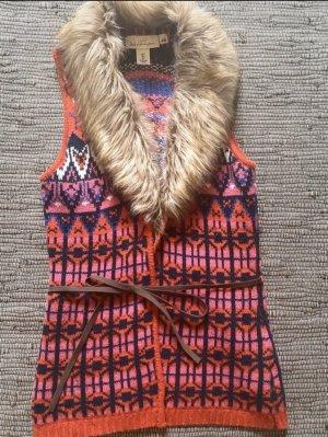 H&M Chaleco de punto multicolor