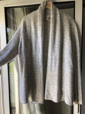 H&M Gilet tricoté gris clair