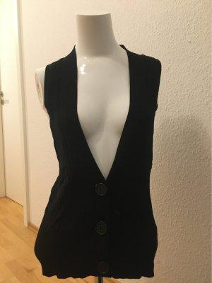 Hallhuber Knitted Vest black mixture fibre
