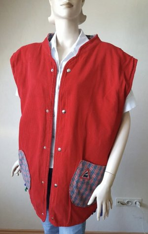 Handmade Quilted Gilet red