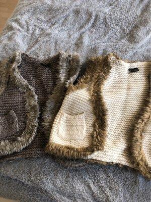 Herrlicher Knitted Vest cream-grey