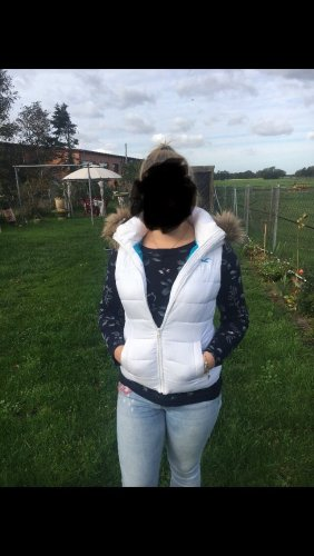 Hollister Quilted Gilet white