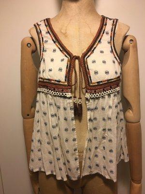 Zara Woman Veste à franges multicolore