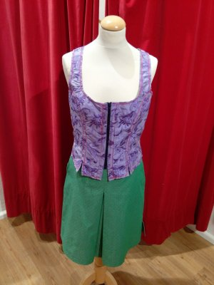 Traditional Vest multicolored silk