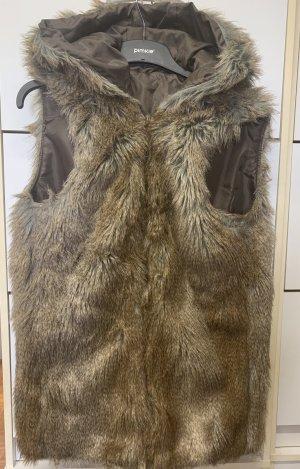 Smanicato di pelliccia bronzo-marrone