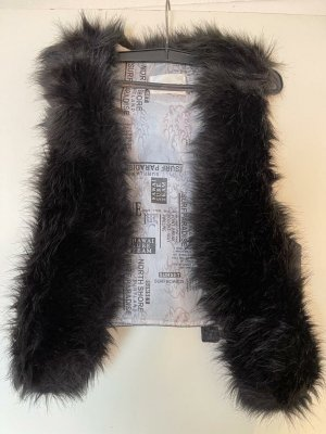 J.Stars Fur vest black-dark grey polyacrylic