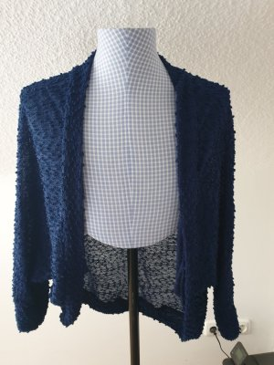 Long Knitted Vest blue