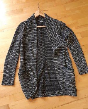 Pimkie Gilet long tricoté blanc-noir
