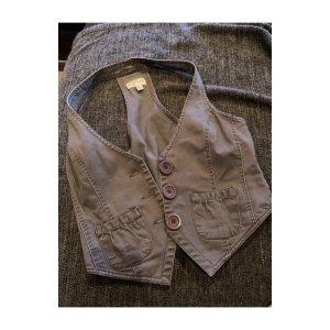 Smanicato jeans marrone-grigio