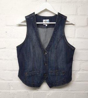 Blue Motion Gilet en jean bleu-bleu foncé