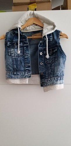 FB Sister Denim Vest blue-white mixture fibre