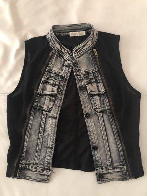 Weste Jeans Stoff Transparent