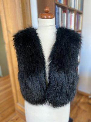 Jimmy Choo for H&M Fake Fur Vest black polyester