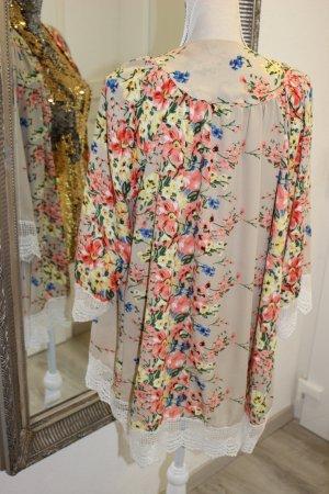 Veste à franges multicolore
