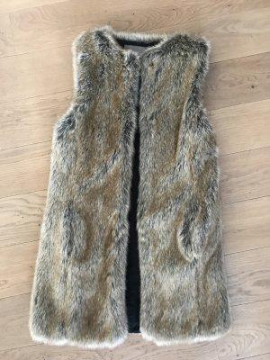 Zara Vest van imitatiebont veelkleurig Kunstbont