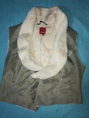 Manguun Fake Fur Vest cream-beige polyester