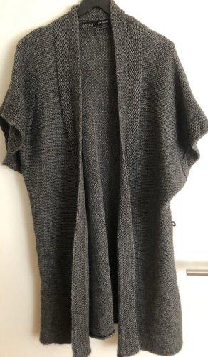 Mark Adam Gilet long tricoté gris