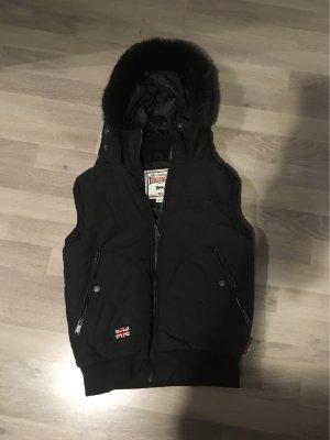 Lonsdale Capuchon vest zwart Gemengd weefsel