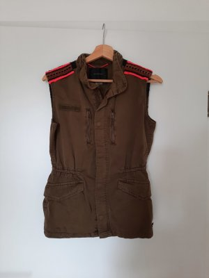 Maison Scotch Gilet en jean multicolore
