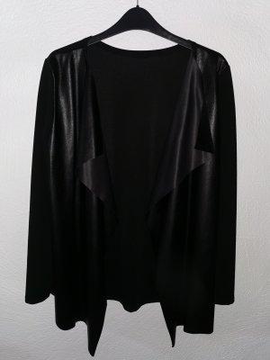 moda moda Skórzana kamizelka czarny