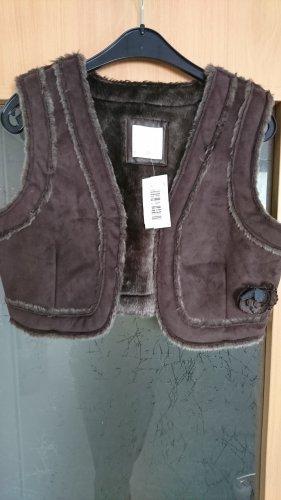 Cache & Cache Fake Fur Vest brown
