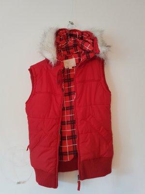 Fishbone Hooded Vest brick red