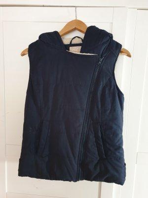 Review Fur vest natural white-dark blue